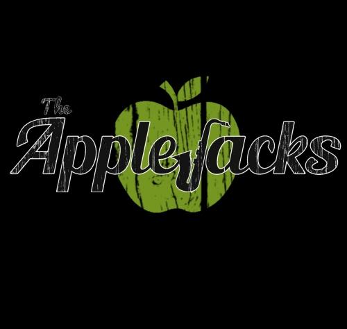logo black and white applejacks